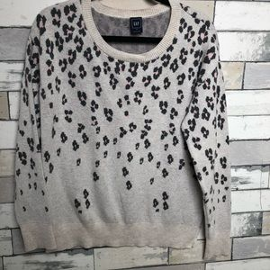 Gap leopard sweater
